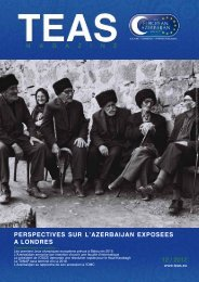 perspectives sur l'azerbaijan exposees a londres 12 / 2012 - TEAS