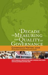 Measuring Decade Quality Governance - World Bank Internet Error ...