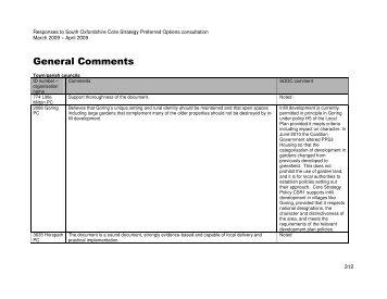General Comments (83.9 KB) - South Oxfordshire District Council