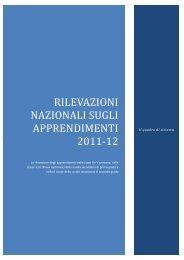 RILEVAZIONI NAZIONALI SUGLI APPRENDIMENTI 2011‐12 - Invalsi