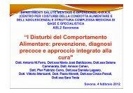 I Disturbi del Comportamento Alimentare: prevenzione, diagnosi ...