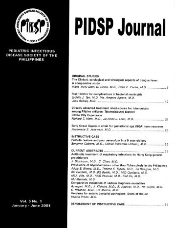 PIDSP Journal - Pediatric Infectious Disease Society of the Philippines