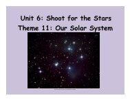 Unit 6: Shoot for the Stars Theme 11: Our Solar System