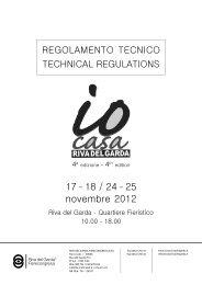 regolamento tecnico 2010.indd - Riva del Garda Fierecongressi