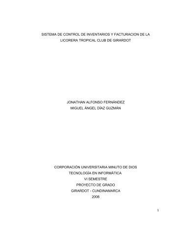 sistema de control de inventarios y facturacion de la licorera tropical ...