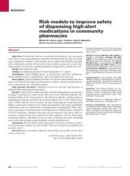 Risk models to improve safety of high-alert medications in ...