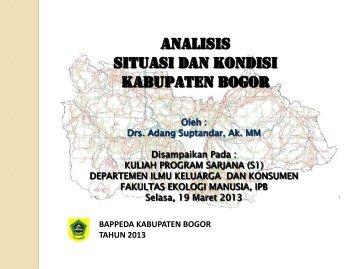 Materi dosen tamu (Bappeda Kab. Bogor) - Departemen Ilmu ...