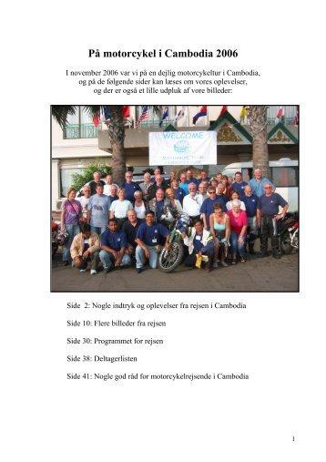 motorcykel i Cambodia 2006 1. - Smedebøl.dk