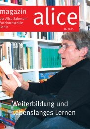 5. Mai 2006 im CCD. Congress Center Düsseldorf - Alice Salomon ...