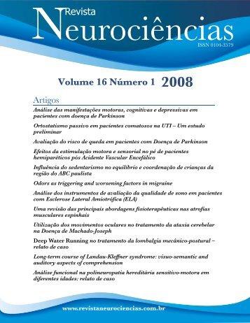 Volume 16 Número 1 2008 Revista - Revista Neurociências