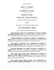 20 APRILI, 2012 1 BUNGE LA TANZANIA MAJADILIANO YA ...