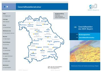 Geschäftsstellenstruktur - MDK Bayern
