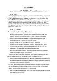 regulamin zachowania się ucznia - Szkoła Podstawowa nr 13 w ...