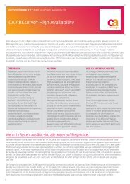 Produktüberblick: CA ARCserve® HA r16 Product Brief