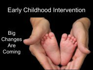 Early Childhood Intervention - Texas Council of Community Centers