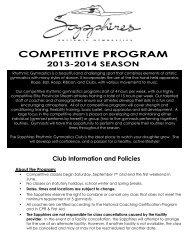 2013-14 Competitive Program Information - Sapphires Rhythmic ...
