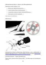 Mikromechanische Aktoren - Aktoren in der Mikrosystemtechnik ...