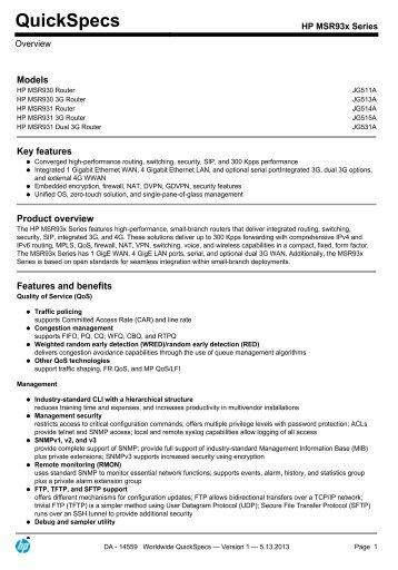 HP MSR93x Series - eD' system Czech, as