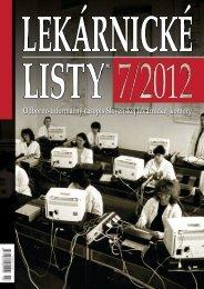 LEkáRnICké LISTy® 7/2012 - Slovenská lekárnická komora