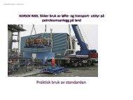 NORSOK R005, Sikker bruk av løfte- og transport- utstyr på ...