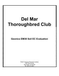 Del Mar Thoroughbred Club Geonics EM38 Soil EC ... - PACE Turf