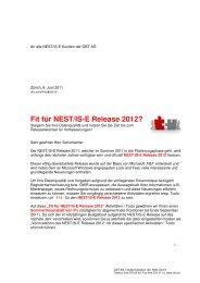 Fit für NEST/IS-E Release 2012? - obt