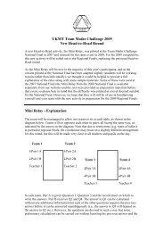 UKMT Team Maths Challenge 2009 New Head-to-Head Round Mini ...