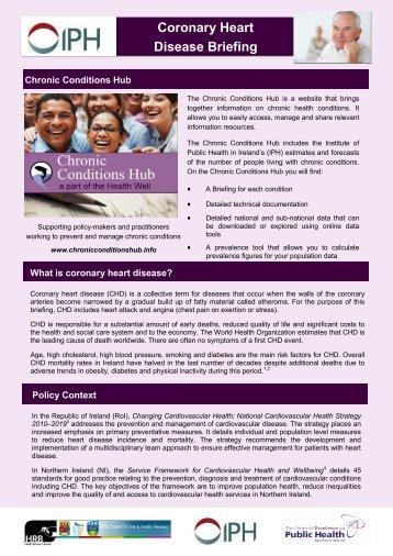 Coronary Heart Disease Briefing - Institute of Public Health in Ireland