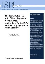 The EU's Relations with China, Japan and North Korea. - Ispi