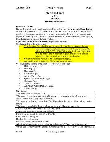 Writing Workshop - Brown County Schools