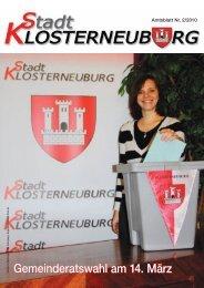 Amtsblatt Nr. 2/2010 - Stadtgemeinde Klosterneuburg