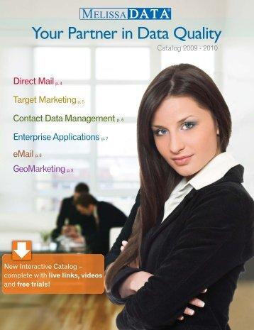 ur Yo Partner in Data Quality - Melissa Data