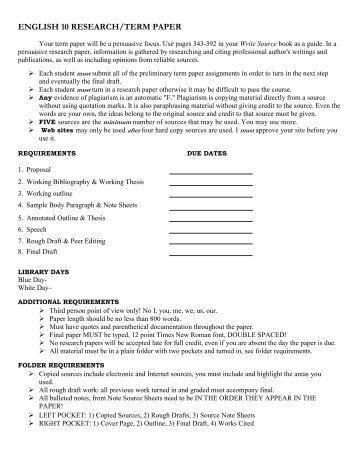 high school term paper requirements Buy custom-written high school research papers high school research paper writing can turn requirements of a high school research paper term paper.
