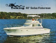 Page 1 Page 2 VIKING 40' SEDAN FISHERMAN SPECIFICATIONS ...