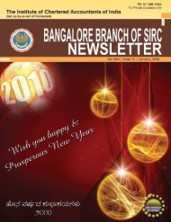 Think Differently Act Perfectly - Bangalore Branch of SIRC