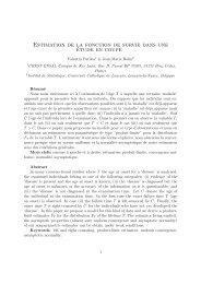 Estimation de la fonction de survie dans une étude en coupe