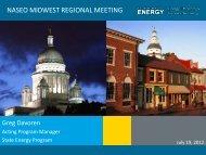 Greg Davoren - National Association of State Energy Officials