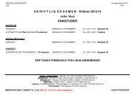 S K R I F T L I G  E K S A M E N   Vinteren 2013/14 ... - For Studerende