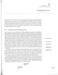 pushing electrons - Department of Chemistry and Biochemistry