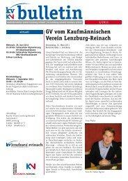Bulletin 1-2011 (PDF, 1194 kb) - KV Schweiz
