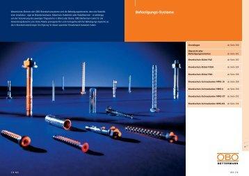 PDF Datei: Broschüre / OBO / Katalog BSS Befestigungssysteme