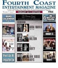 February Fourth Coast Entertainment Magazine.