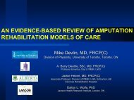 Enhancing Patient Education - Ontario Association for Amputee Care