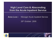 High Level Care & Absconding from the Acute Inpatient Service