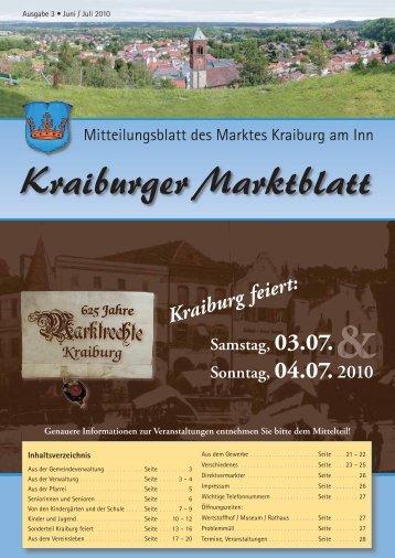 Ausgabe 3 - Juni / Juli - Markt Kraiburg am Inn