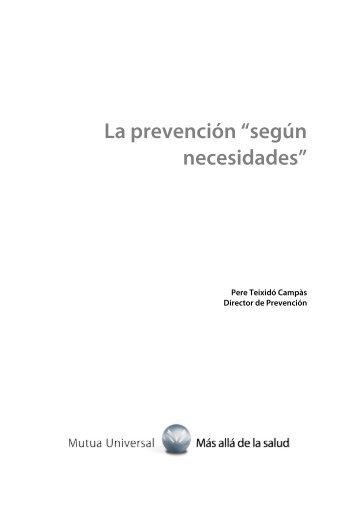 La prevención según necesidades OK 051012 - Mutua Universal