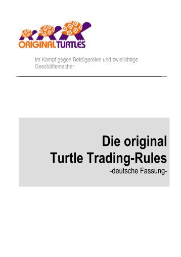 Trading ebook turtle trading system rules pdf