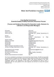 Care Quality Commission Essential Quality & Safety Outcomes ...
