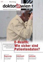 E-Health: Wie sicher sind Patientendaten? - Ärztekammer für Wien