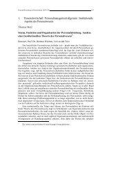 1. Personalwirtschaft / Personalmanagement allgemein / Institutionelle